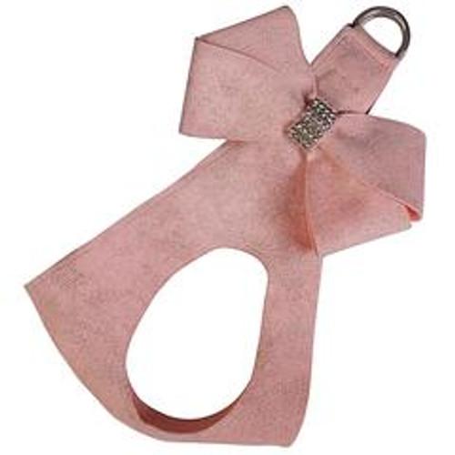 Susan Lanci Puppy Pink Glitzerati Nouveau Bow Step In Harness-FINAL SALE