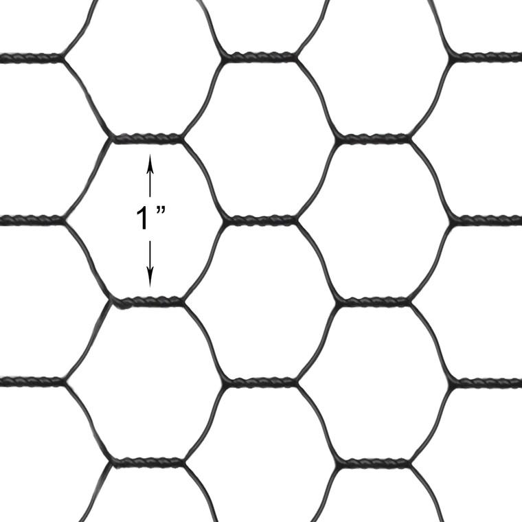 hex netting 20 gauge vinyl coated black