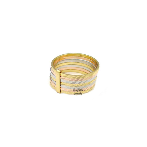 14k Gold Plated 3 Tone Semanario Ring