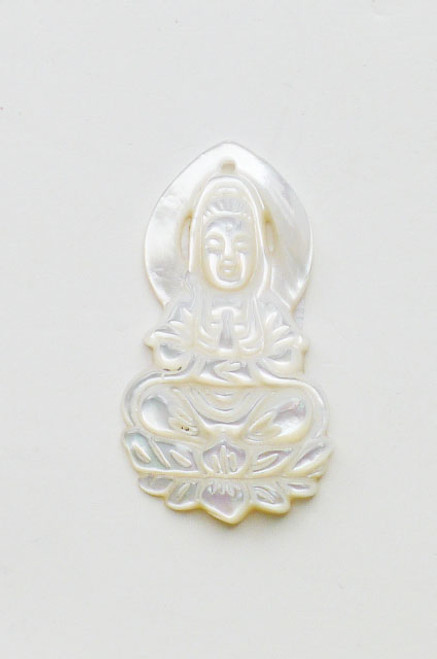 Mother of Pearls Guan Yin Pendant