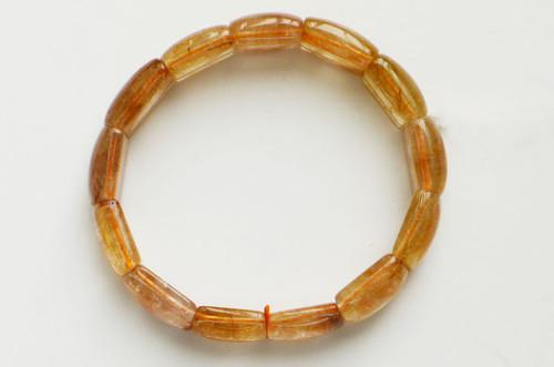 Bronze Rutilated Quartz Rectangle Stretchy Bracelet