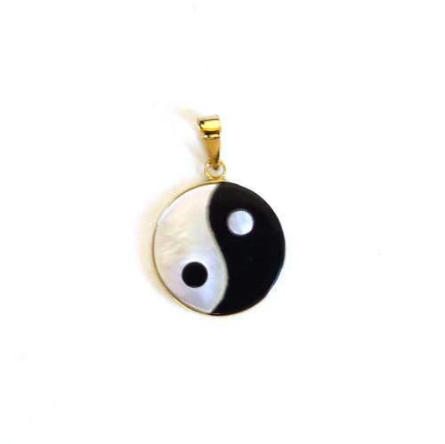 14K Gold Yin Yang Pendant