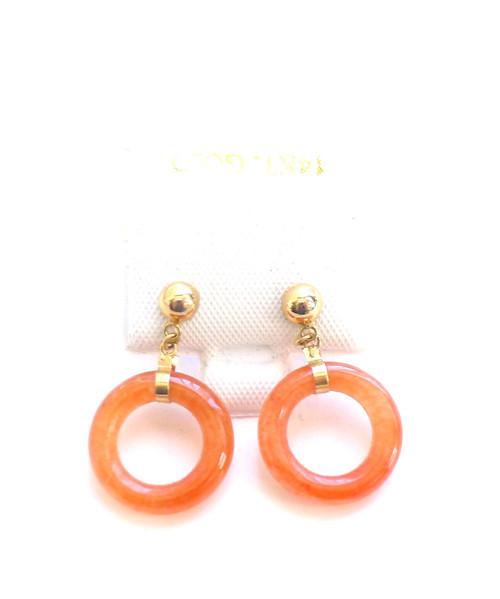 14k Gold Doughnut Stud Earrings