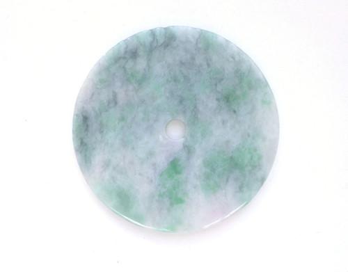 Big Jade Doughnut Pendant
