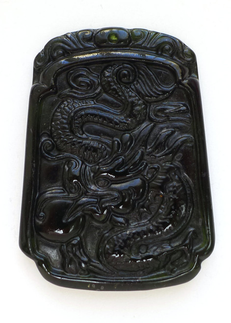 Black Jade Dragon Pendant