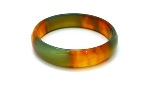 Green and Red Agate Bangle