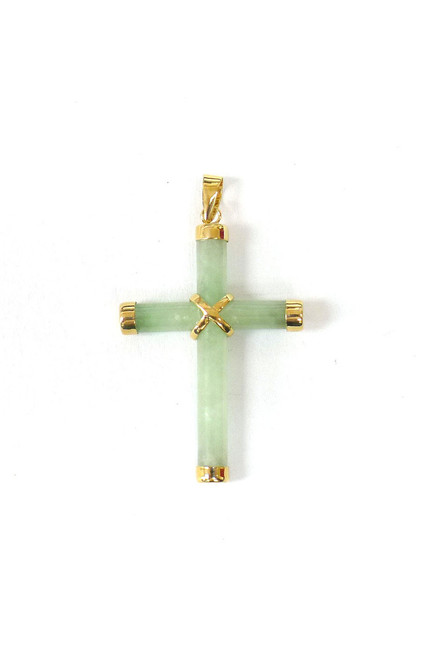 14K Gold Bail Small Cross Pendant