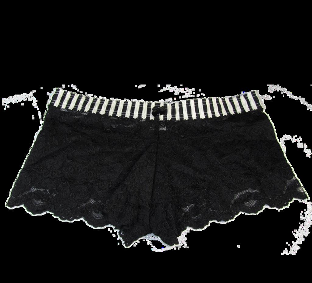 Black Ivory Stripe / Black Lace Boxers