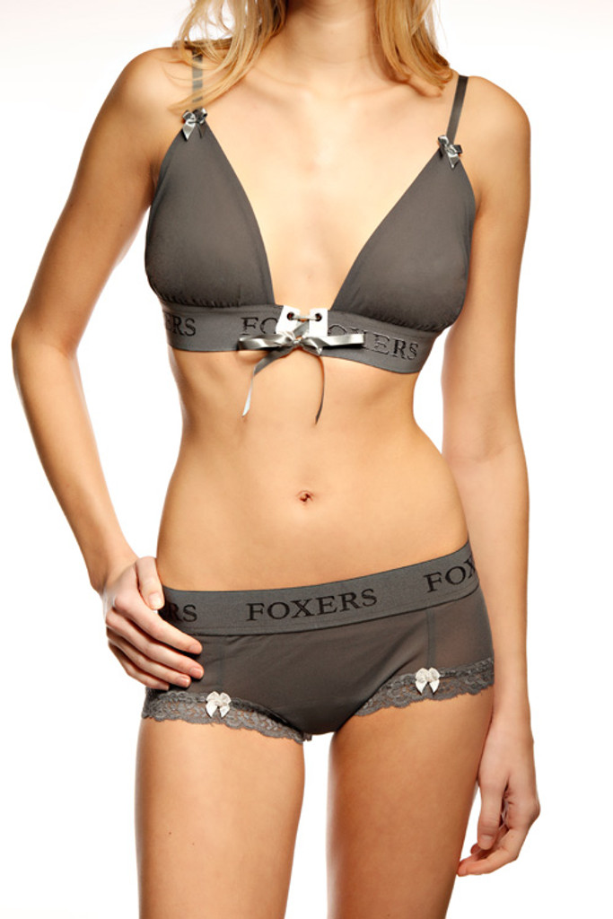 Charcoal Gray Sleep Bra