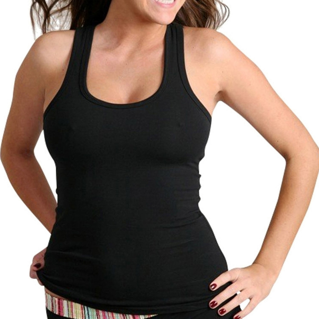 Black Racerback Tank (Without Shelf Bra) (FXTKT-0100)