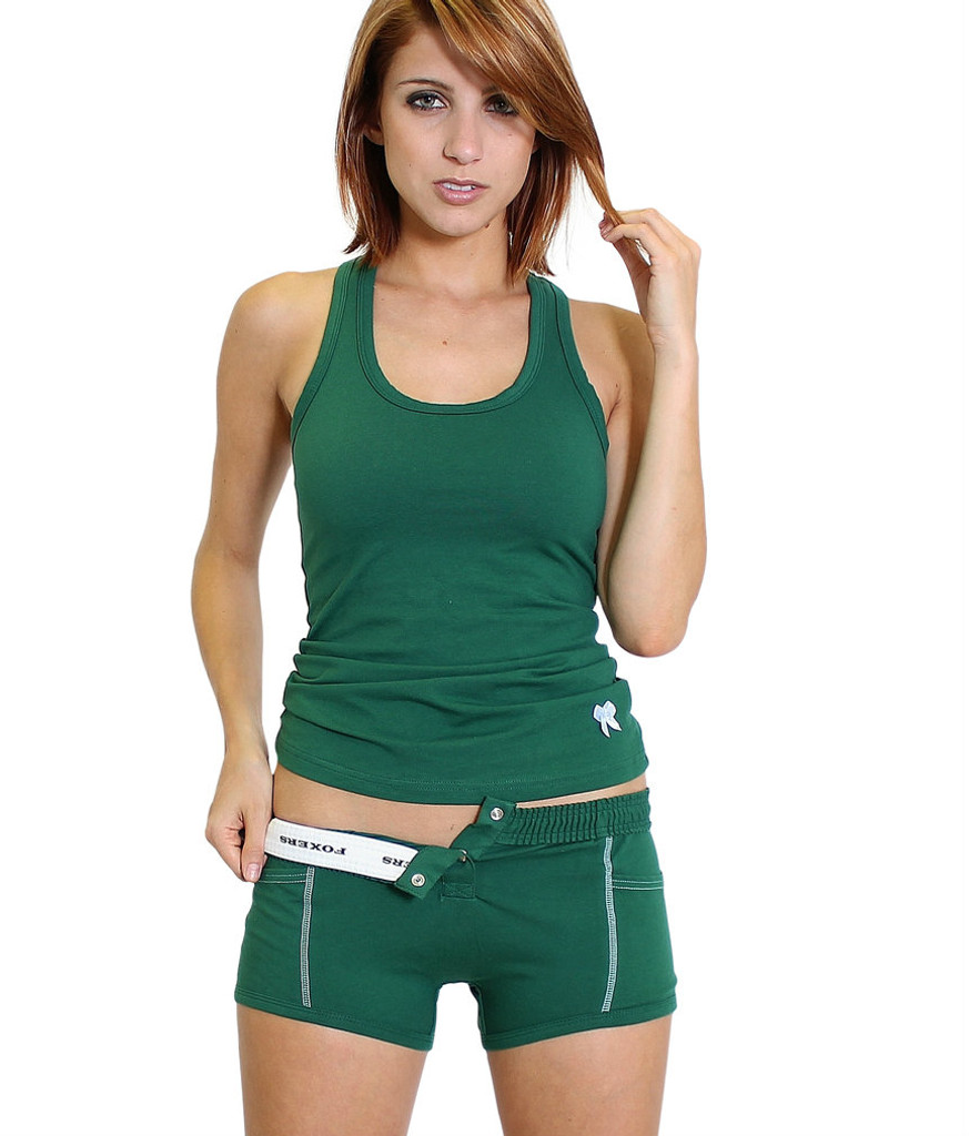 Forest Green Tomboy Boxer Brief and Matching Tank Top
