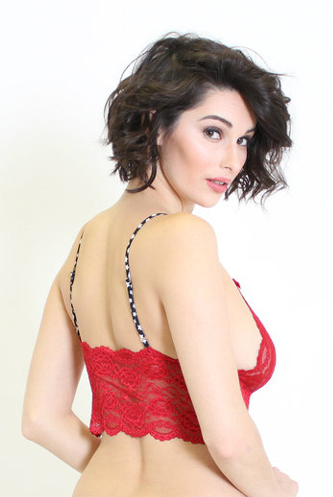 Sexy Red Lace Bralette Top