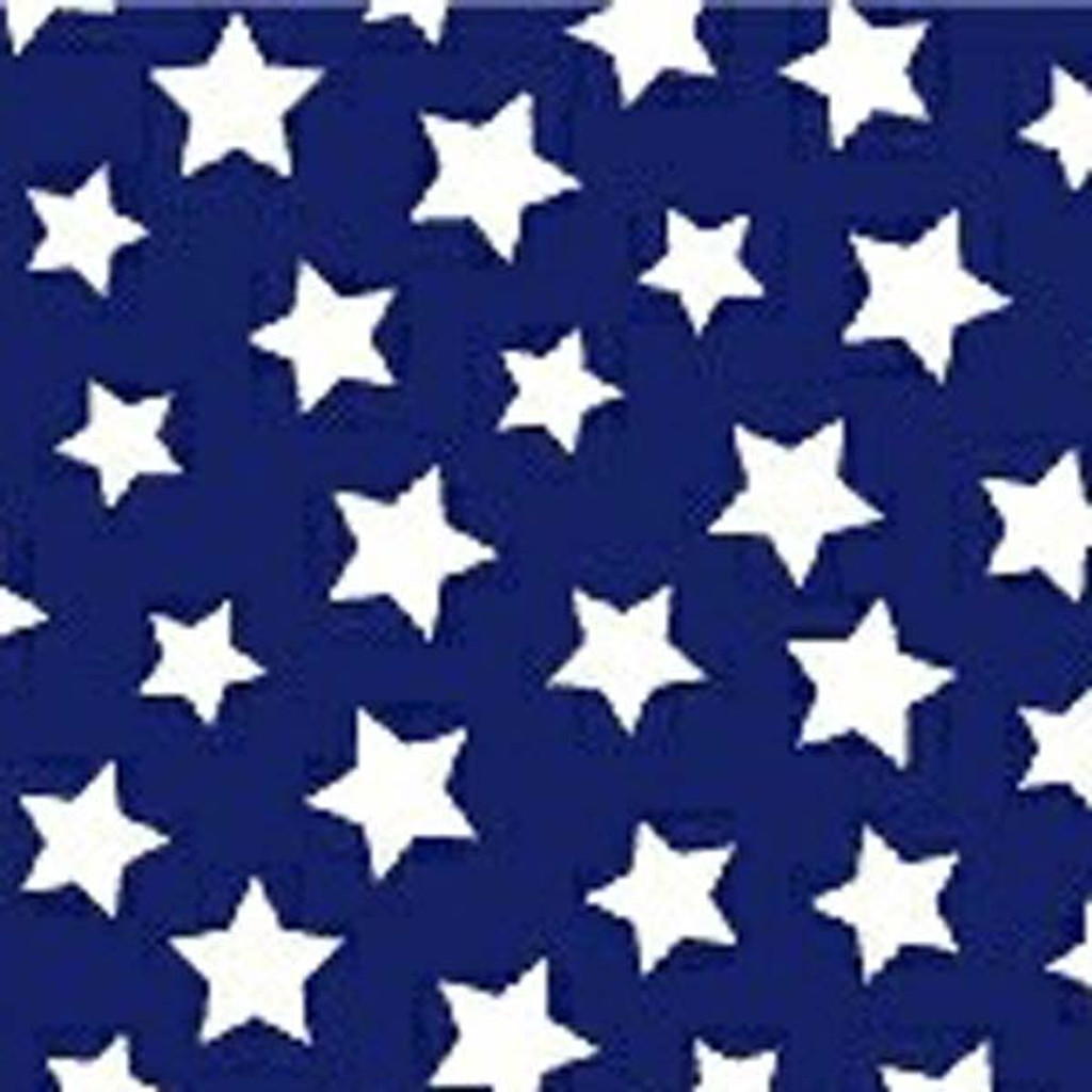 Navy & White Star Bright Straps Fabric Swatch