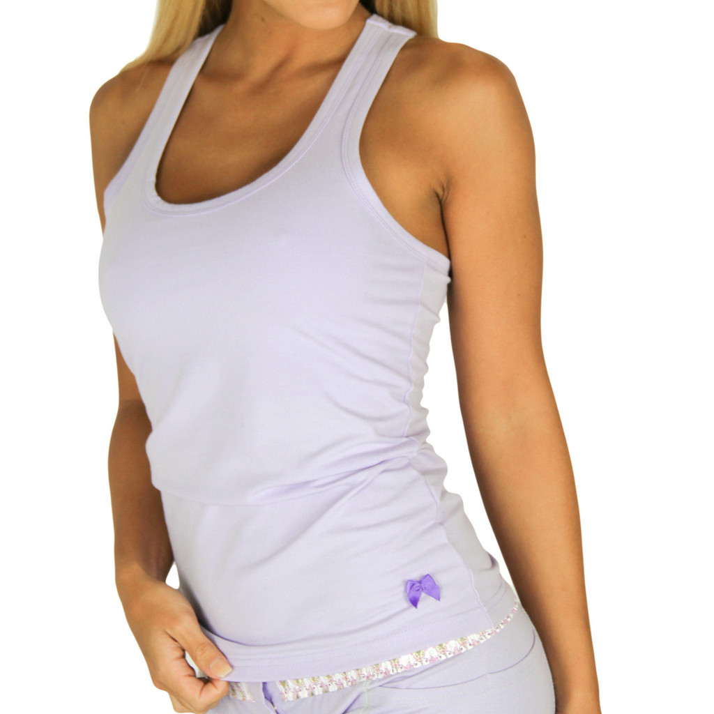 Lavender tank top with built in bra