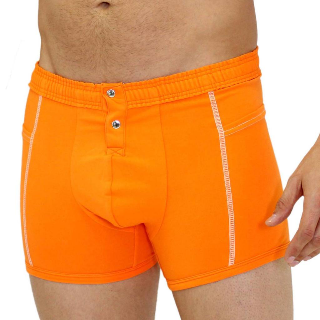 Sporty Men's Orange Boxer Brief