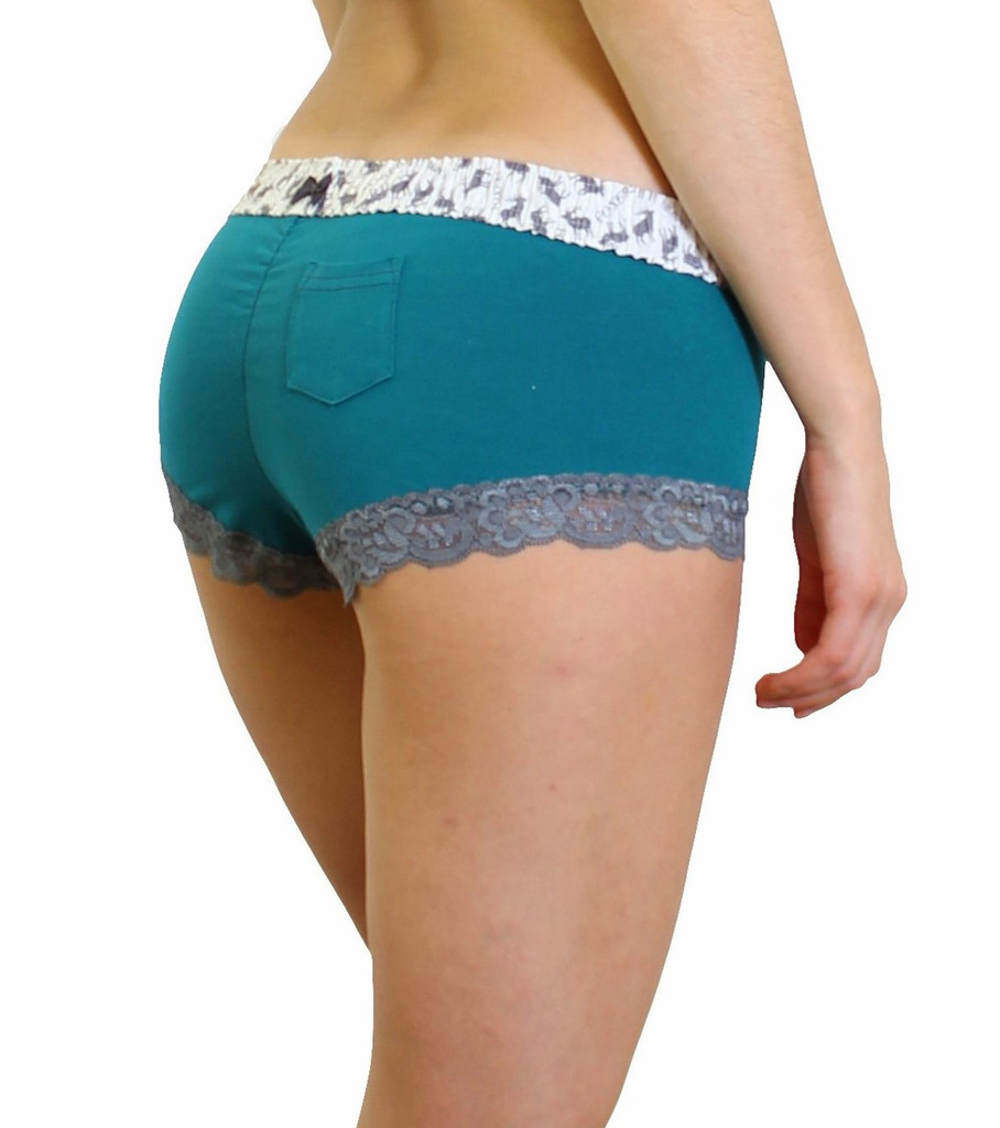 Cheeky Boyshort Panties with Elk print Waistband