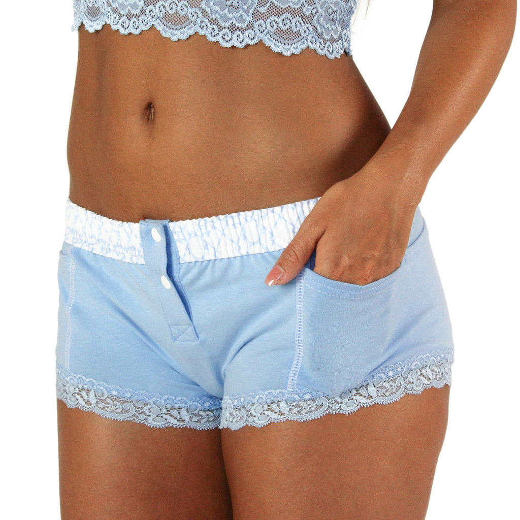 Light Blue Boxer Brief with Pockets