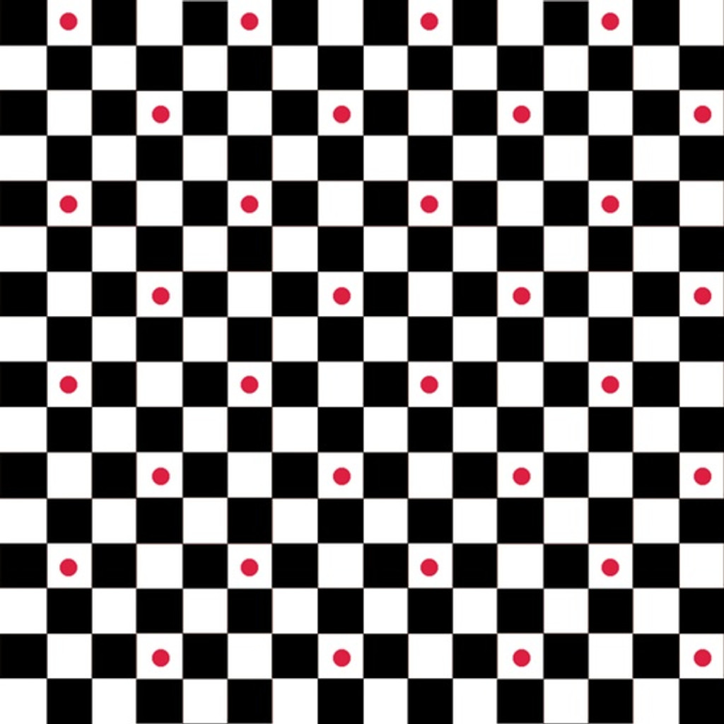 Checkers with Red Dot | Waistband Fabric Print