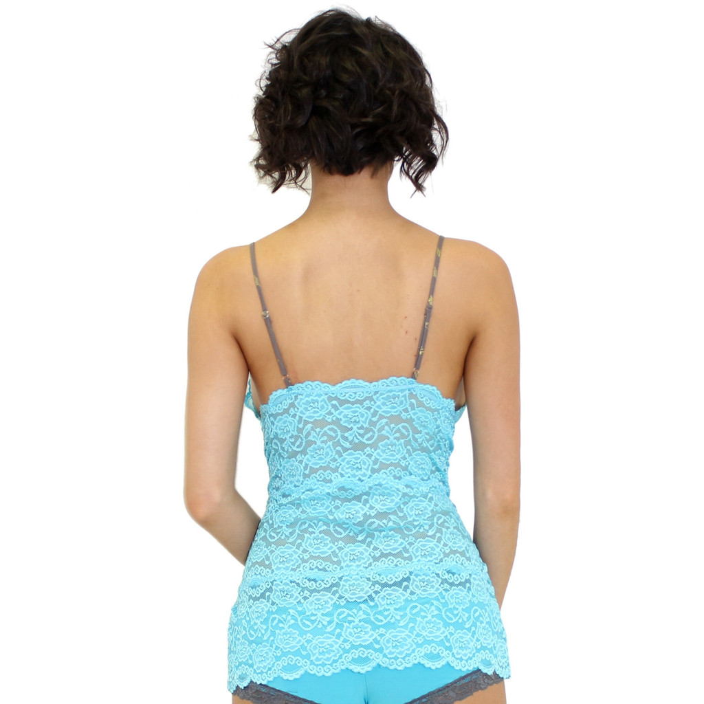 Turquoise Lace Cami Top