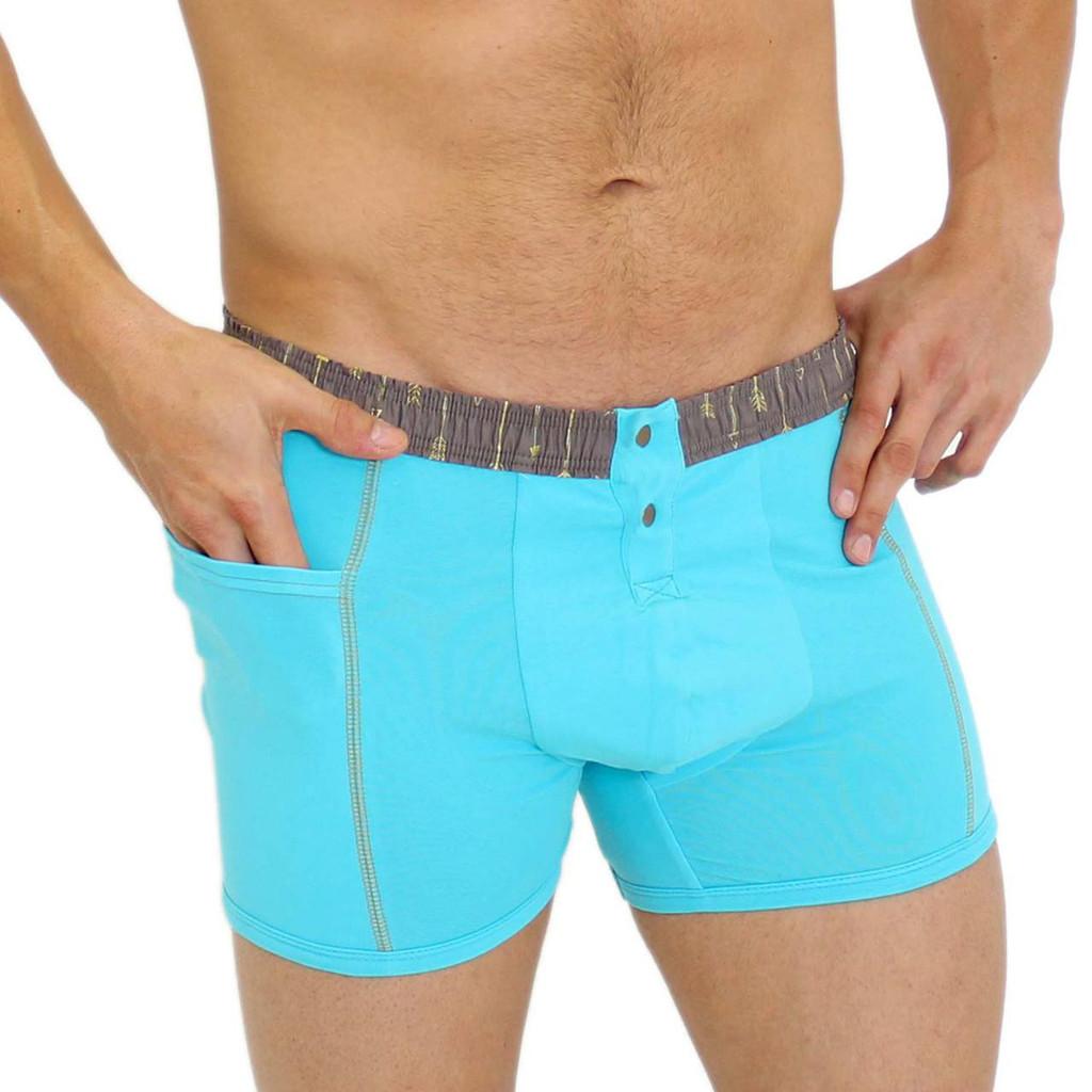 Santorini Blue Men's Boxer Briefs