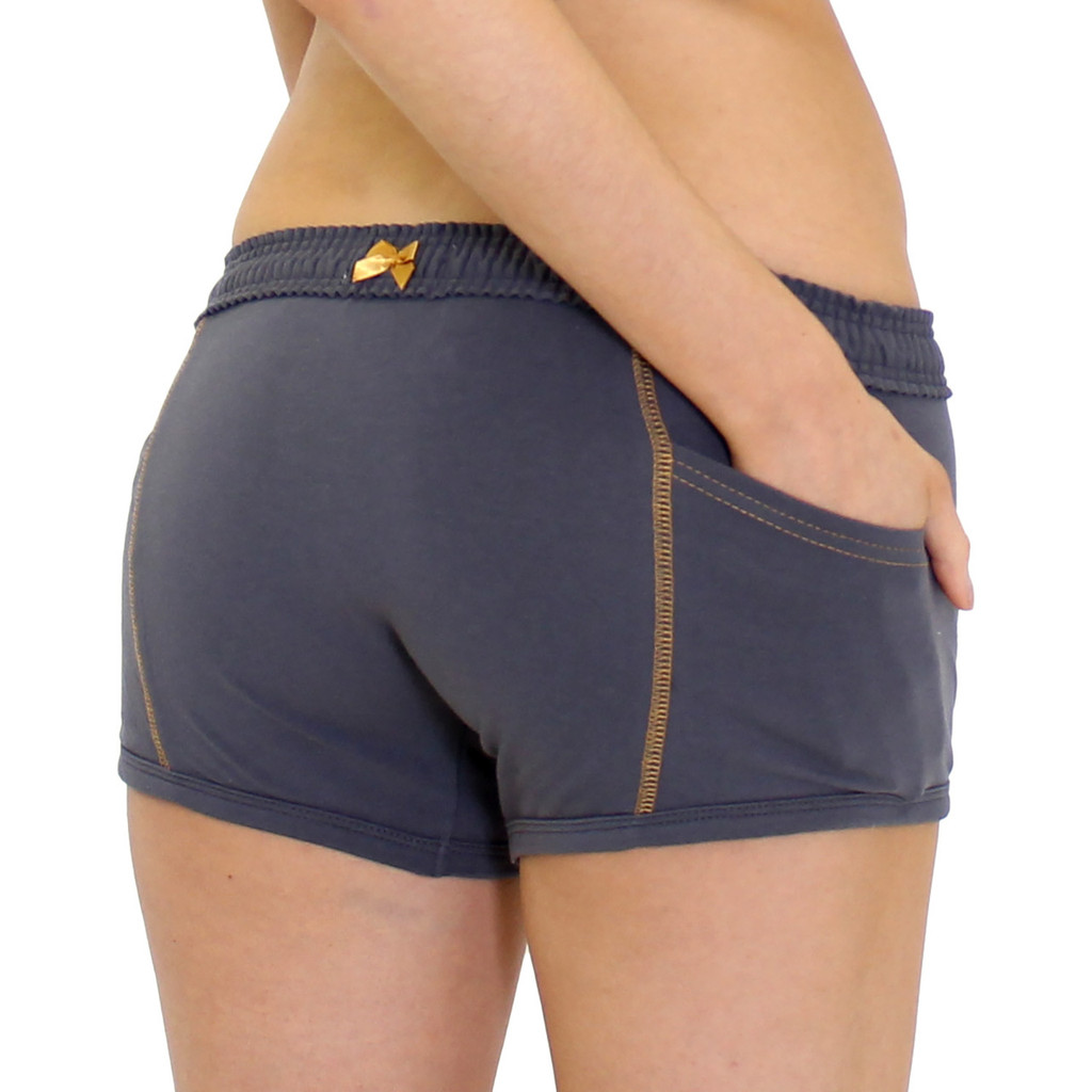 Gray Tomboy Boxers with Pockets