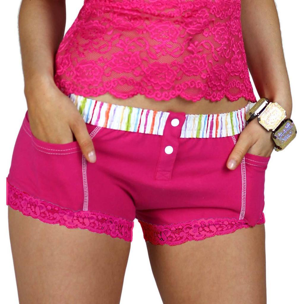 Women's Pink Boxer Underwear