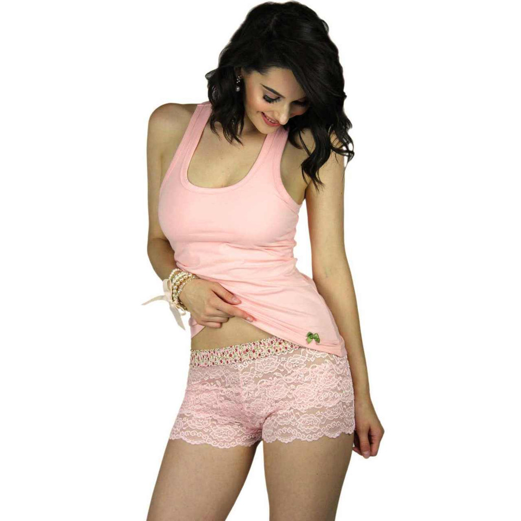 Our Pink Posies lace boxers are fun, comfortable and sexy