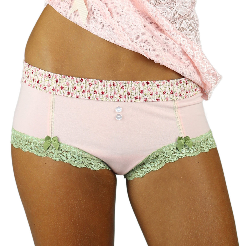 Lace Trimmed Cotton Cheeksters