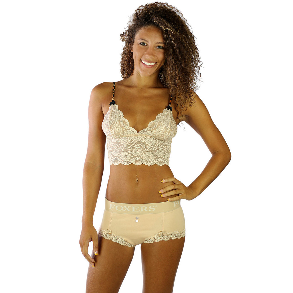 These sexy nude boyshorts pair together with our lace lingerie camisoles to make sexy lingerie sets!