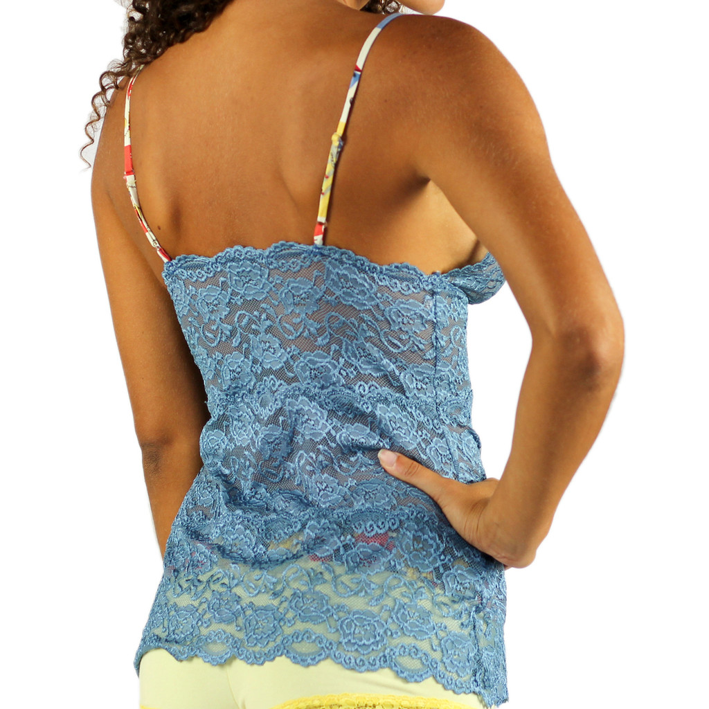 Waistlength Blue Camisole Negligee