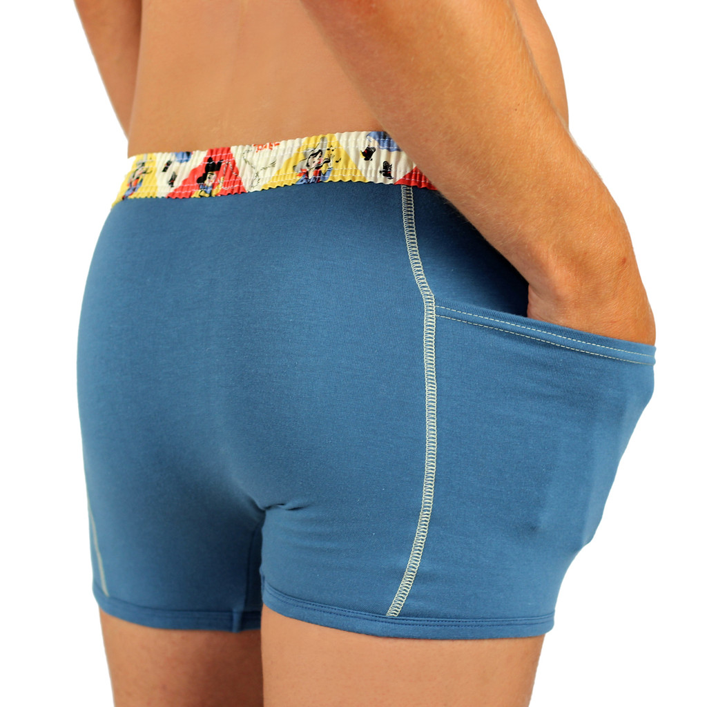 Men's Cowboy Blue Boxer Brief with FOXERS Rodeo Waistband
