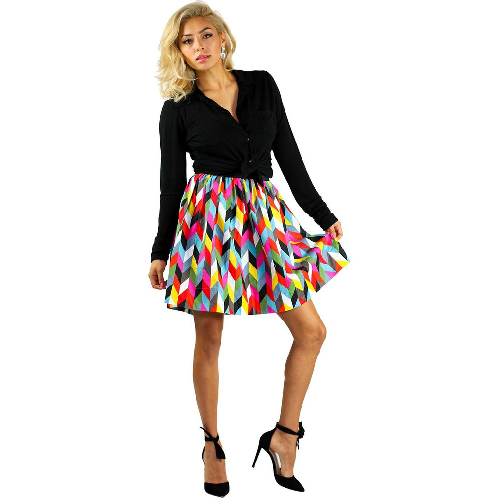 Colorful Skirt wit pockets
