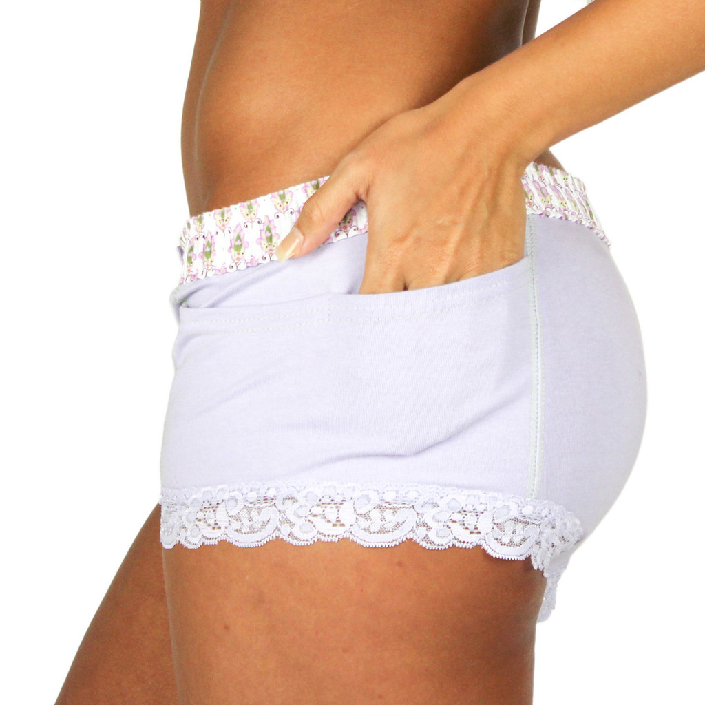 English Lavender Boxer Brief for Women