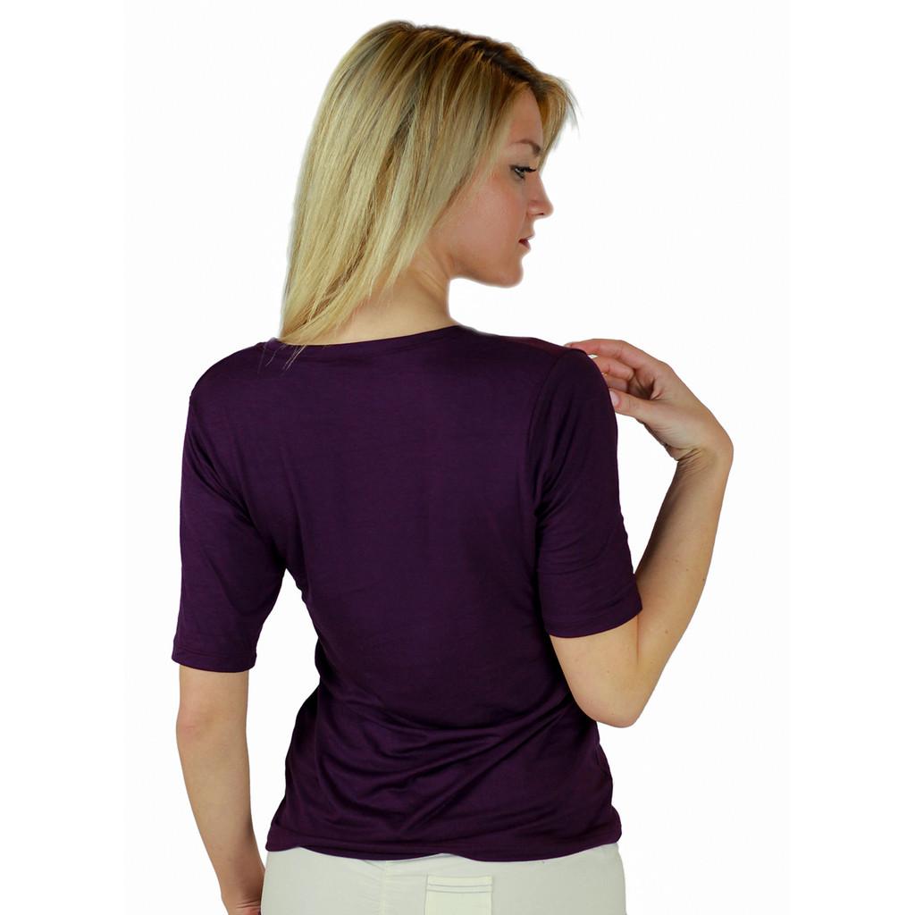 Plum Perfect Deep V T-shirt