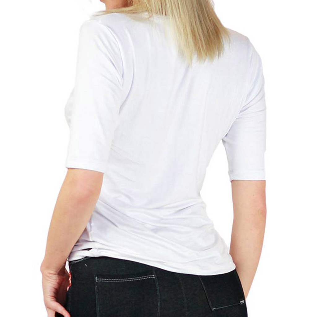 The Even DEEPER V White Tshirt with Half Sleeves