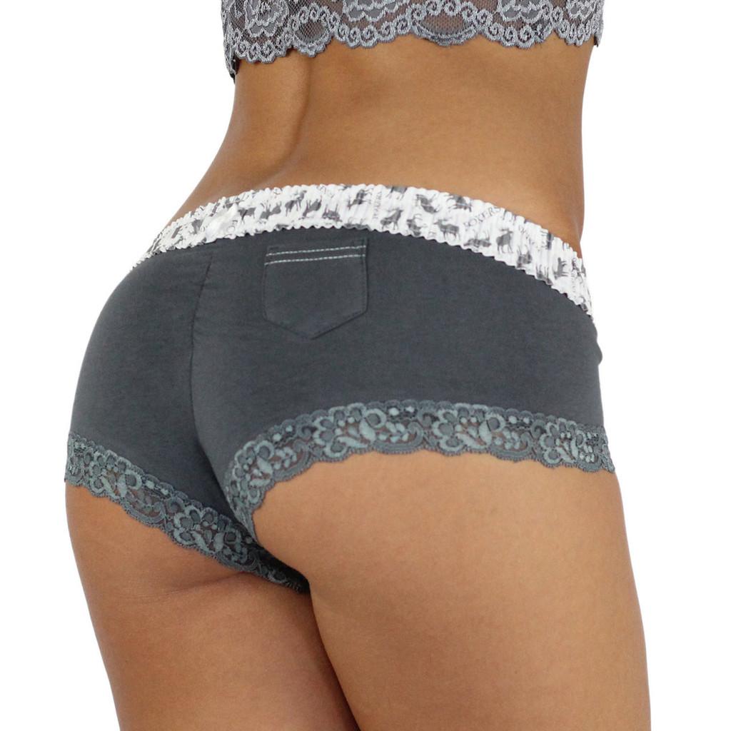 Charcoal Grey Boyshort Underwear