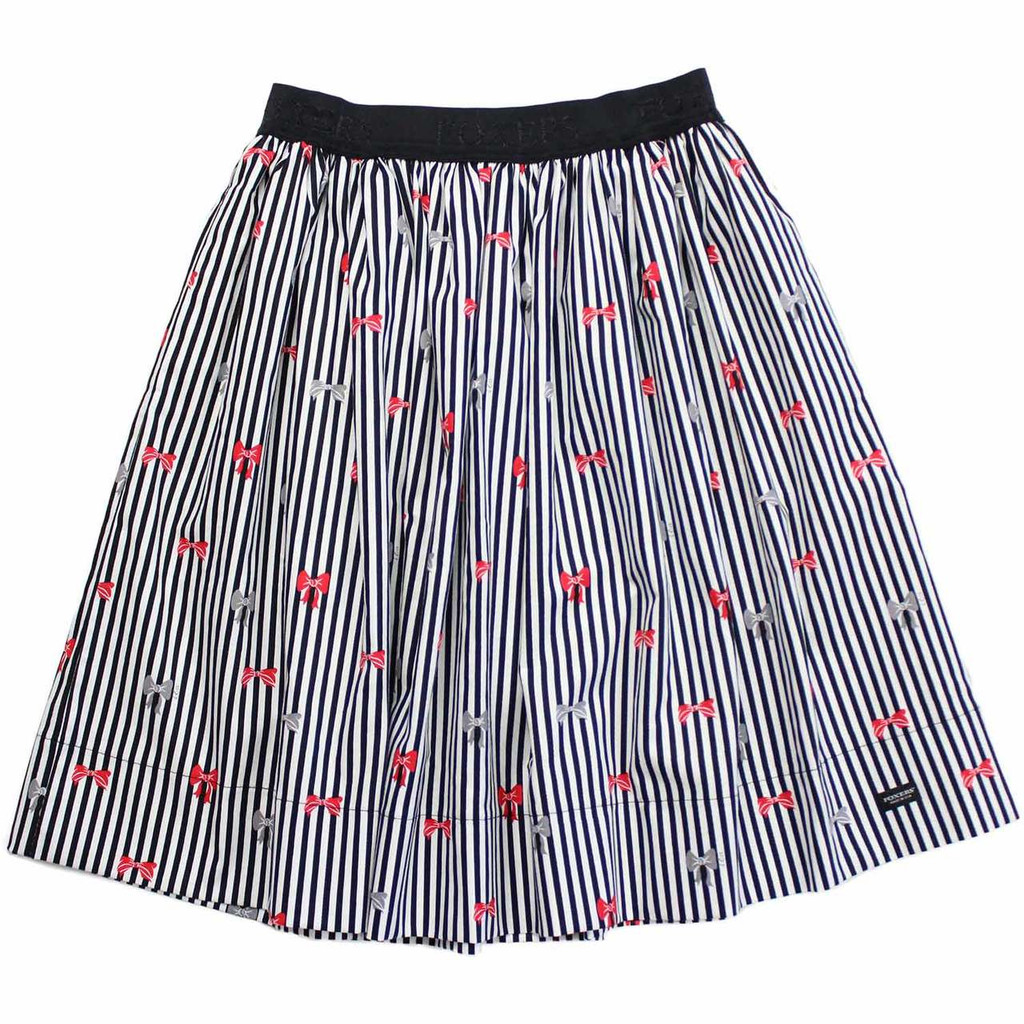 Stripes & Bows Skirt designed with Hidden Pockets