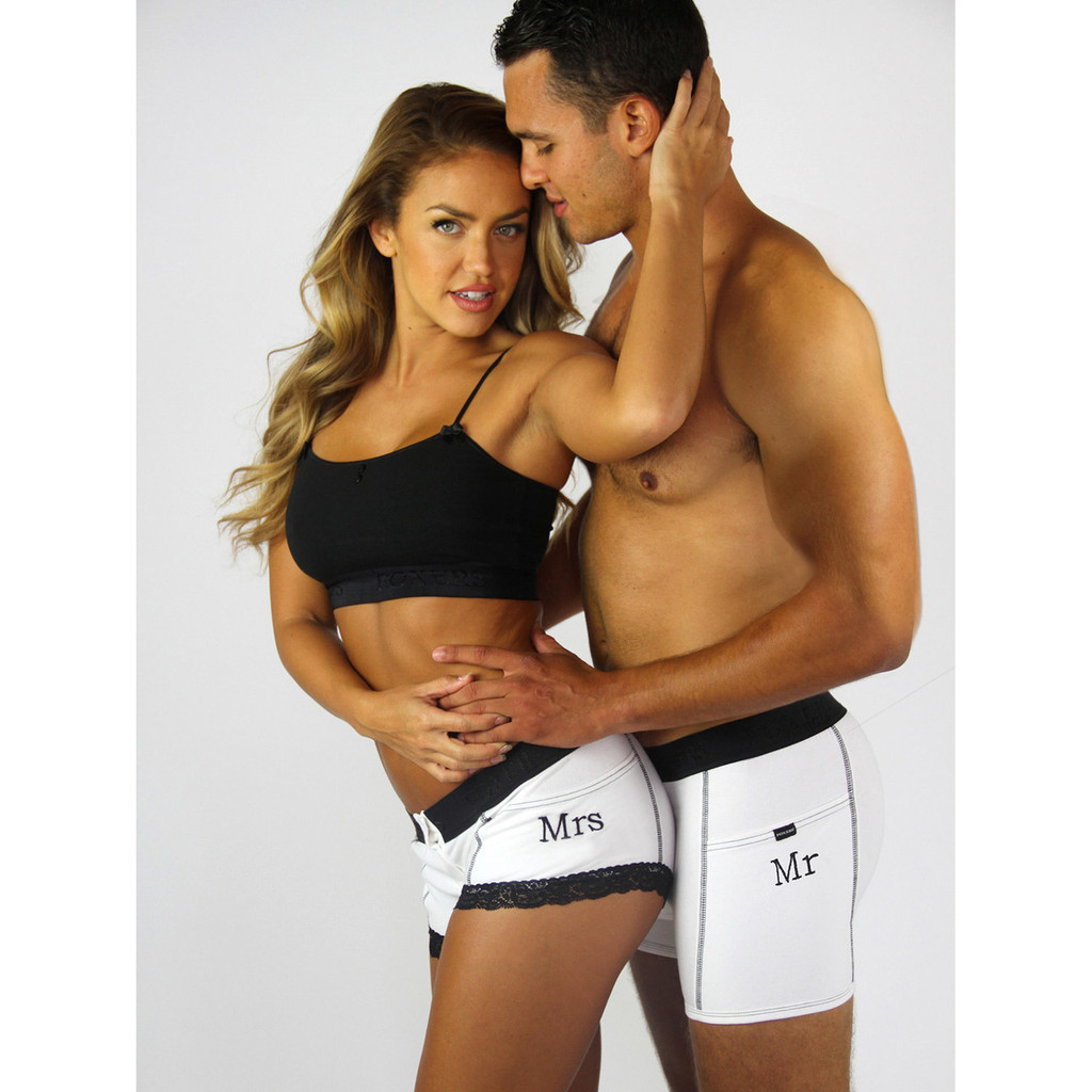 MR and MRS Monogrammed Underwear