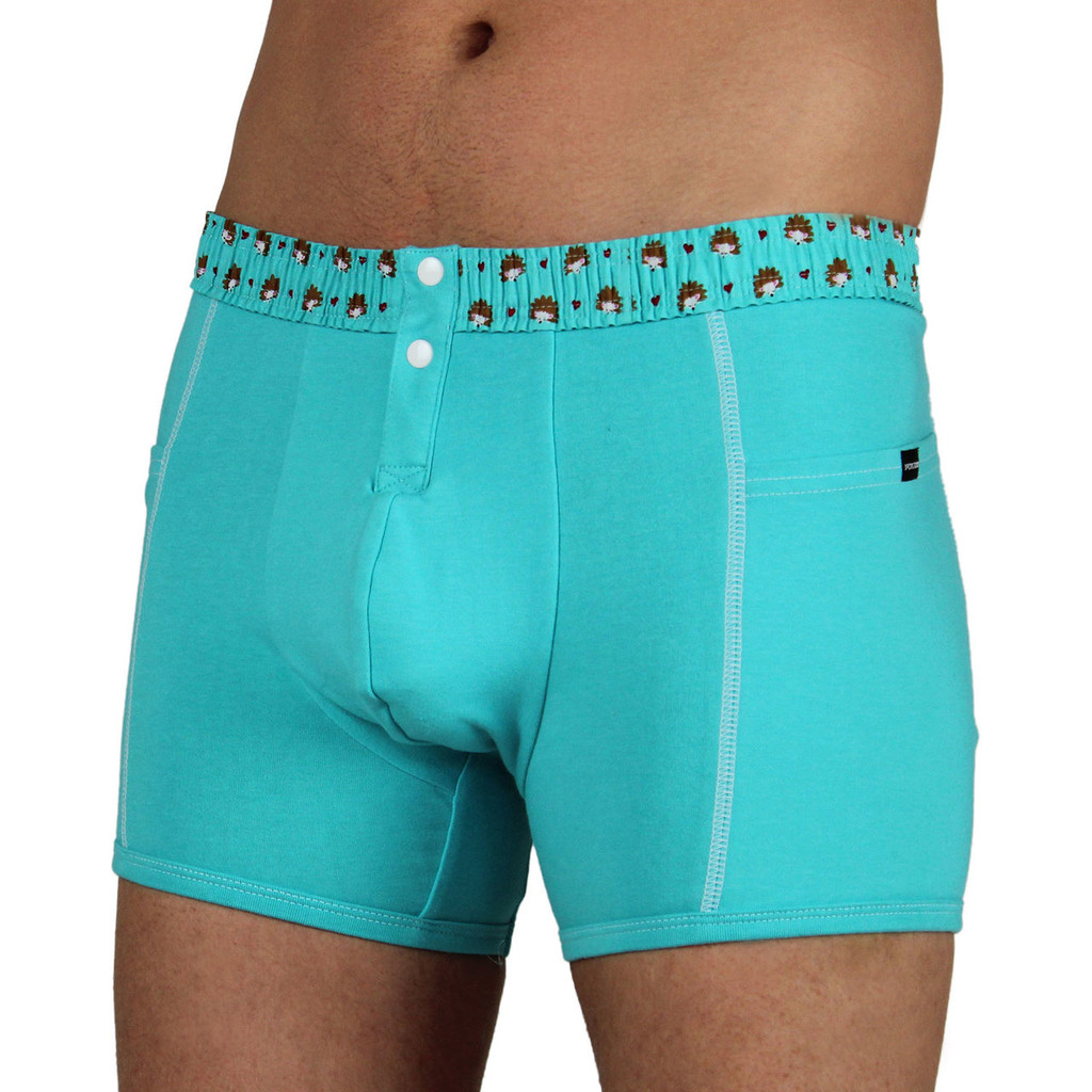 Men's FOXERS Boxer Brief with Hedgehog Band (MSBBP-67140)