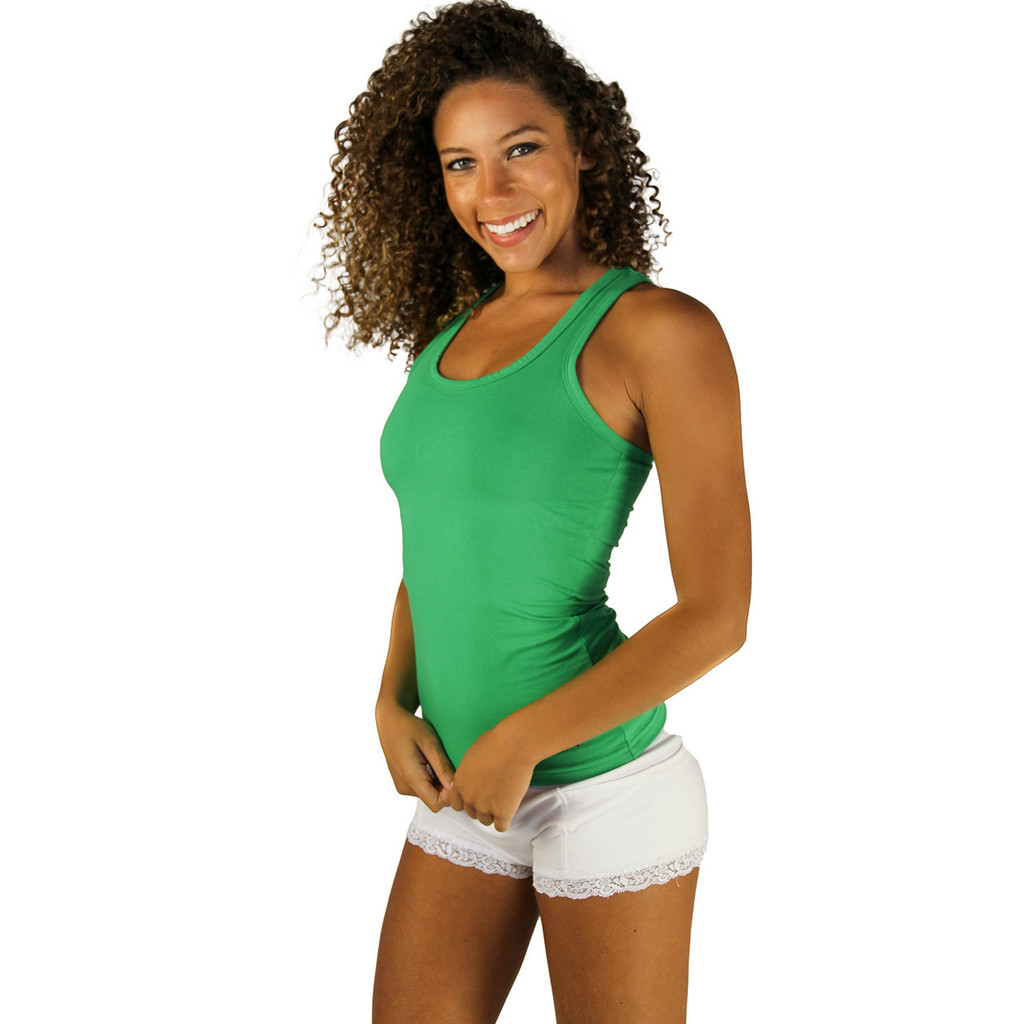 Kelly Green FOXERS Racerback Bra Tank Top