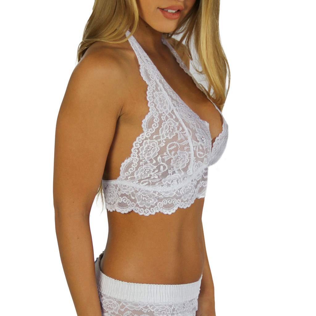 White Lace Halter Top Camisole
