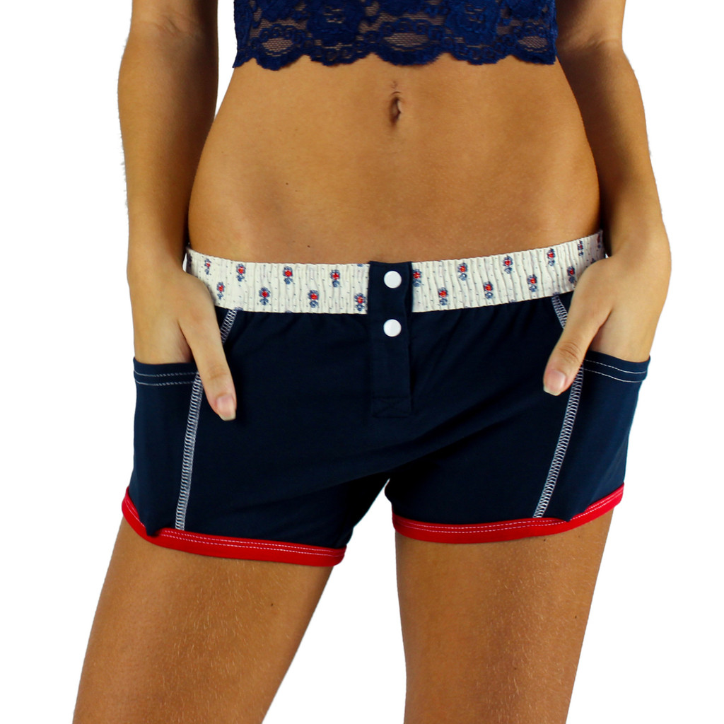 Navy Blue Tomboy Boxer Brief by FOXERS