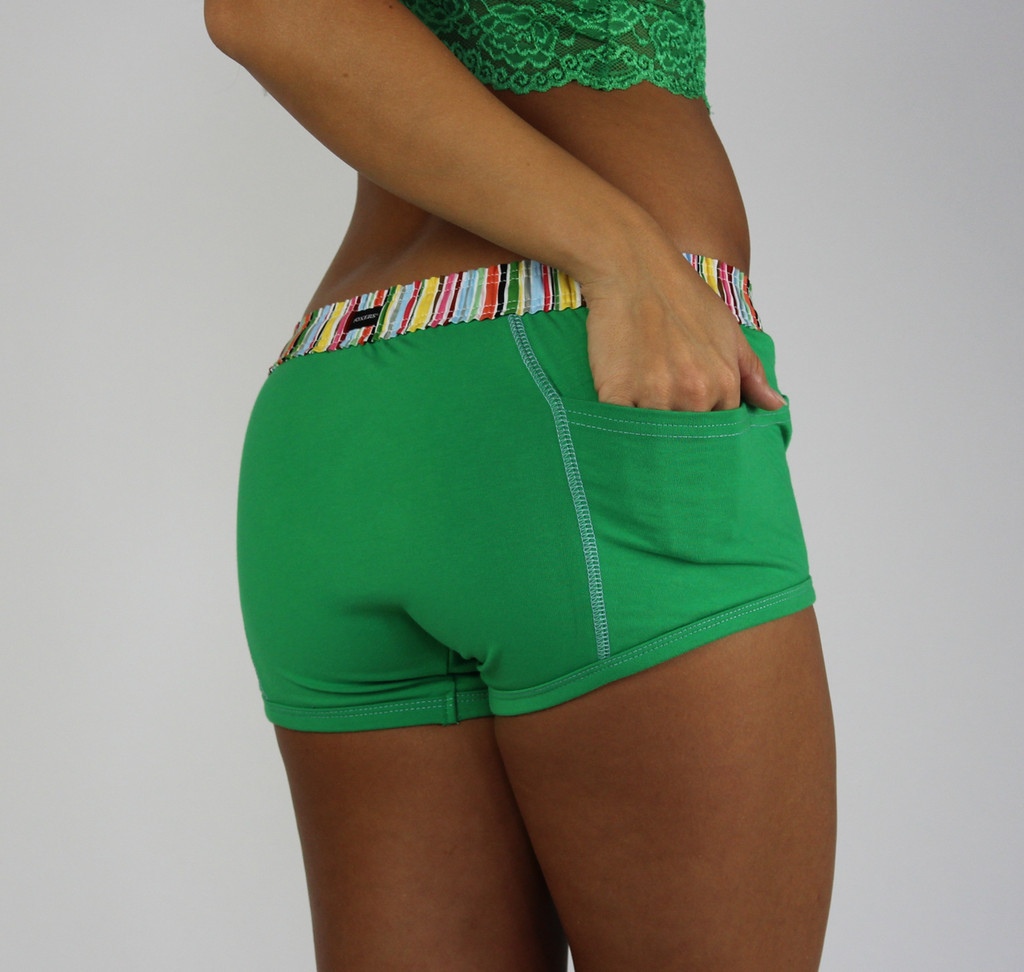 Kelly Green Tomboy Boxer Brief | Cruise Stripe Waistband