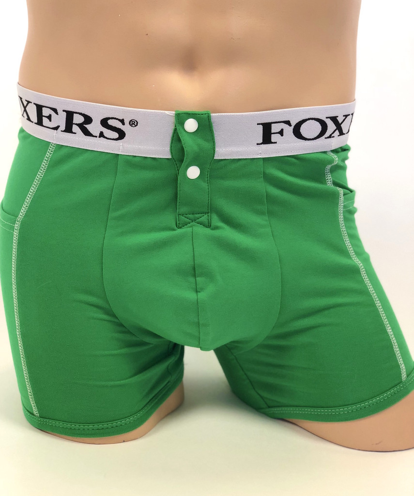 Men's Kelly Green Boxer Brief with Foxers Logo Band