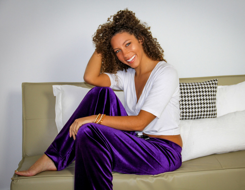 Purple Velvet Lounge Pants