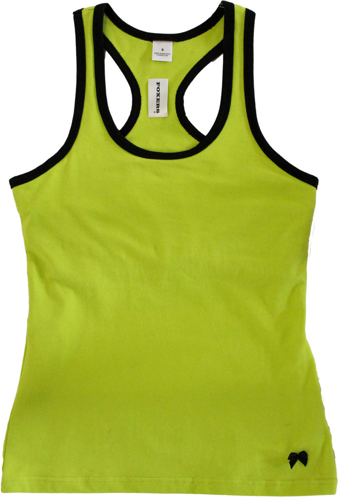 Lime Green Racerback With Black Trim