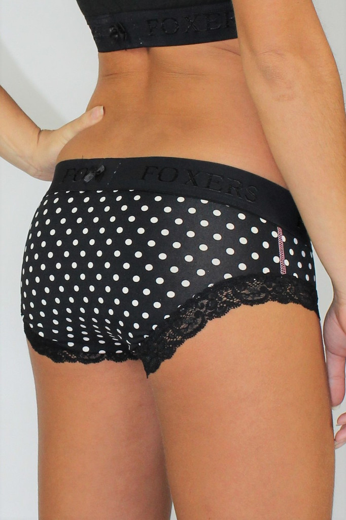 Polka Dot Swim Bottoms with FOXERS Waistband