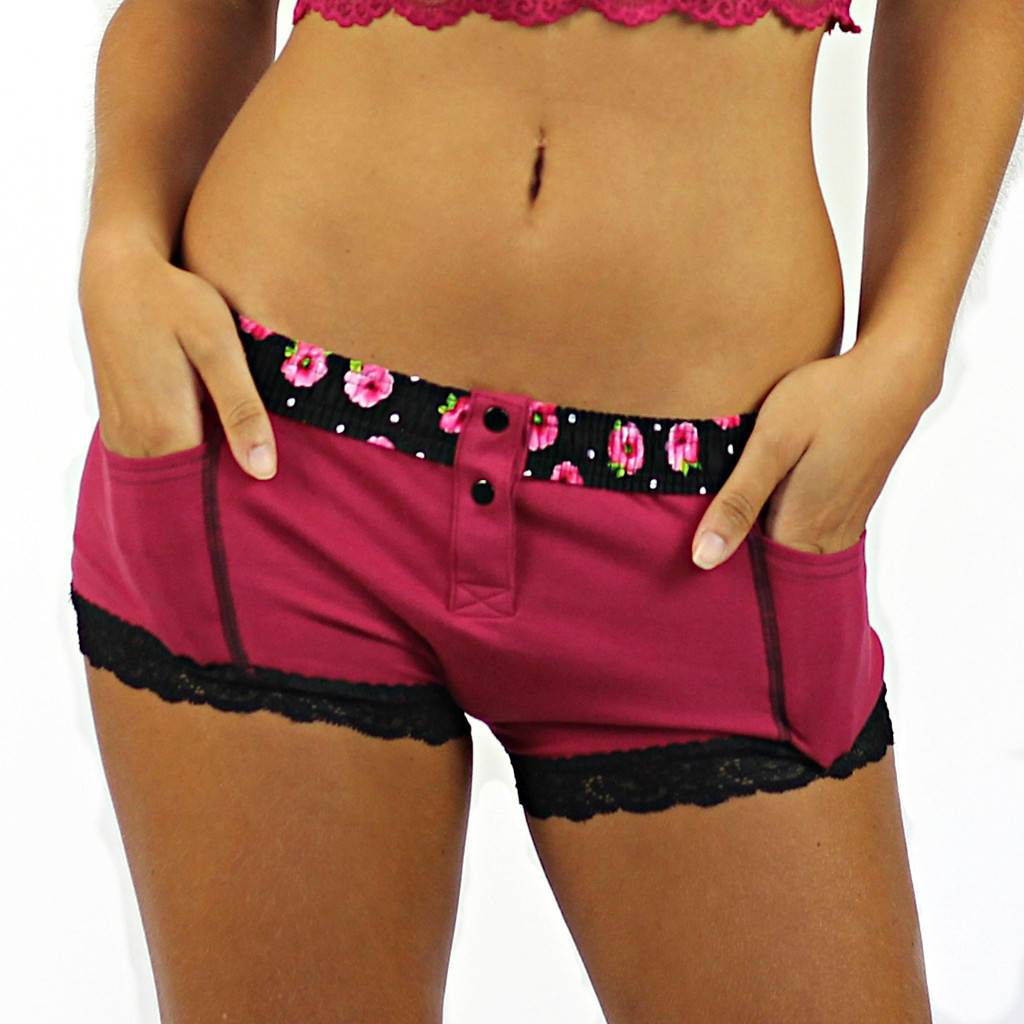 Dark Rose Boxer Brief with pockets