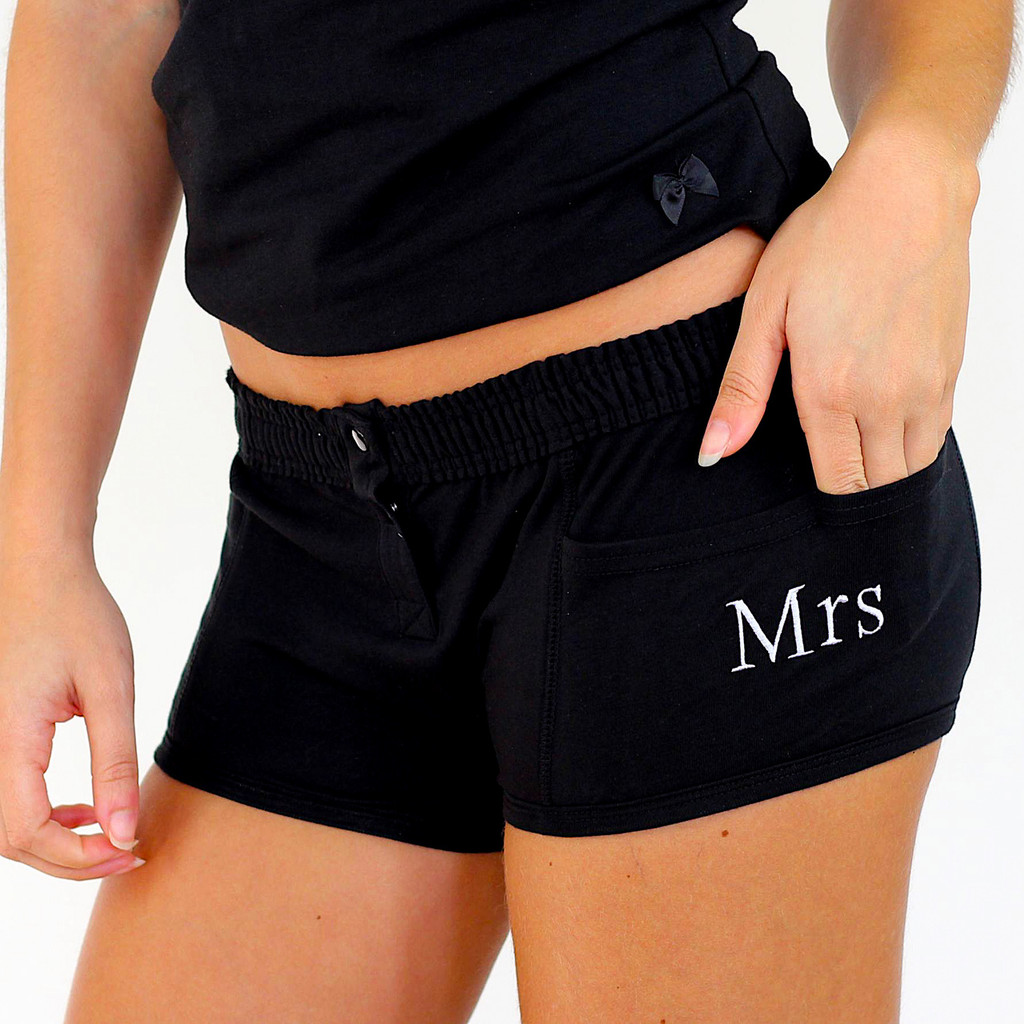 FOXERS Black Tomboy Boxer Brief MRS Embroidered