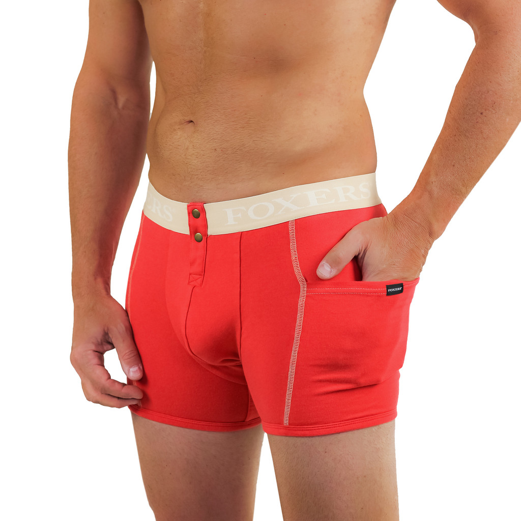 mens red boxer briefs with pockets